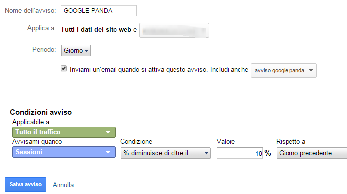 alert google analytics